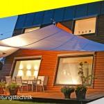 SunSquare Sonnensegel automatisch aufrollbar Beleuchtungstechnik von Sonnensegel Schweiz